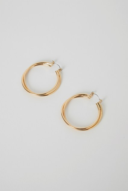 Erica Layered Gold Hoop Earrings