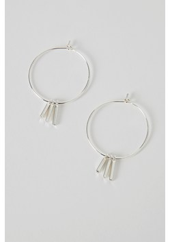 Silver Plated Bar Hoops