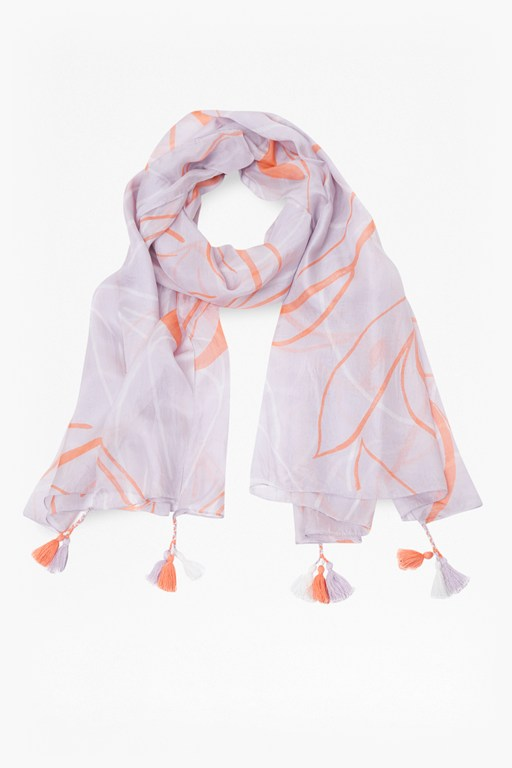 ava abstract silk scarf