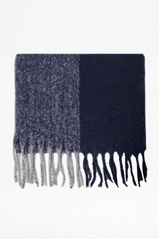 winter blue scarf